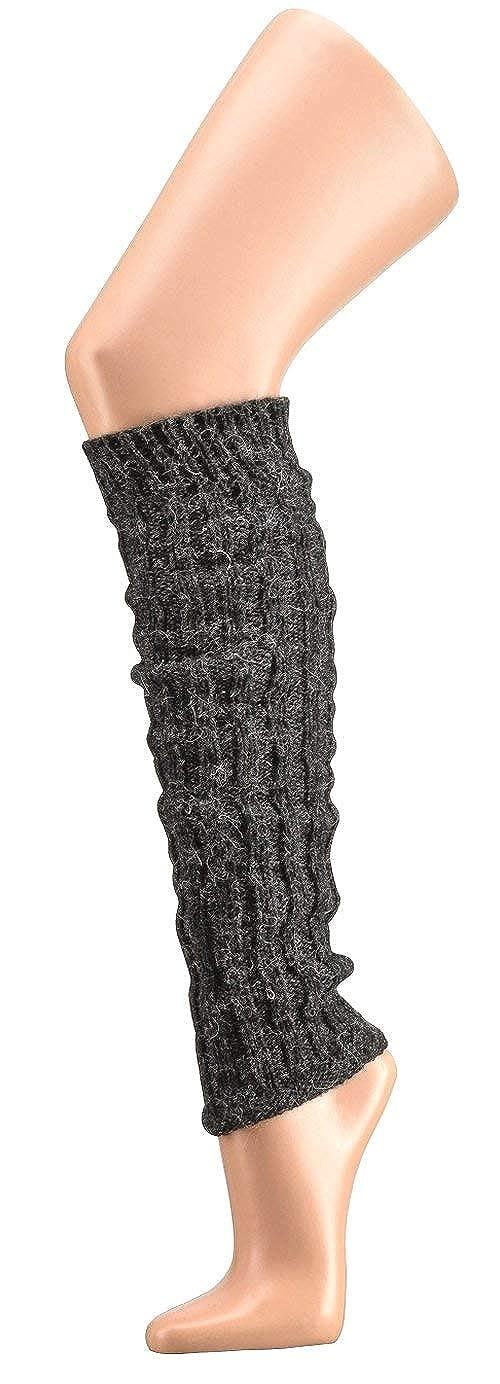 krautwear/® Damen M/ädchen 1 2 oder 4 Paar Beinw/ärmer Stulpen Legwarmers Grobstrickstulpen mit Alpakawolle Alpaka Flauschig 40cm 80er Schwarz Wei/ß Grau Beige