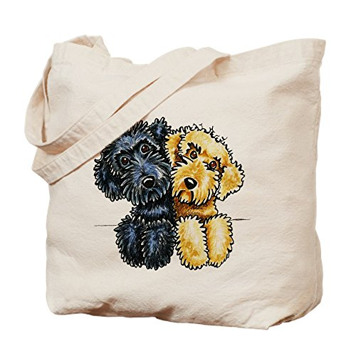 Breeder Bag - CafePress Labradoodles Lined Up Natural Canvas Tote Bag, Cloth Shopping Bag