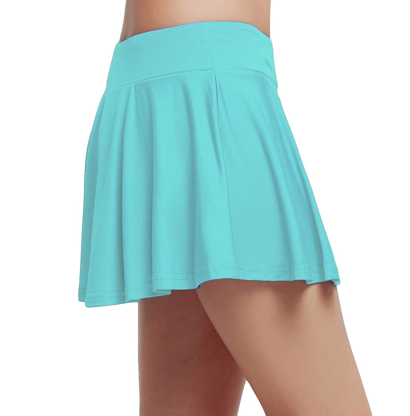 honour fashion Women's Gym Stretchy Skorts with Underwear Covered wk02