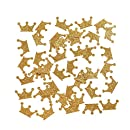 "Ling's moment Gold Crown Confetti Table Confetti for Wedding Birthday Party Baby Showers Festival Items & Princess Party Supplies, Gold Glitter Confetti - DIY Kits, 100 pcs of 1"" Crowns"