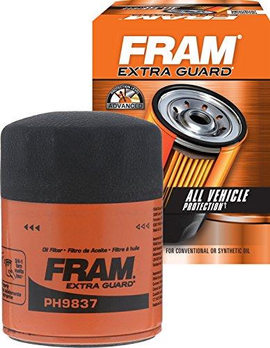 FRAM PH9837 Spin-On Oil Filter (Fram Oil Filter For 350 Chevy Engine)
