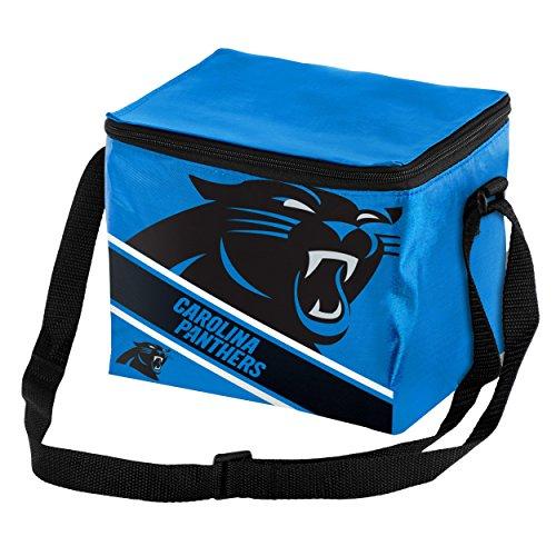 Carolina Panthers Big Logo Stripe 6 Pack Cooler (Carolina Panthers Cooler Bag)