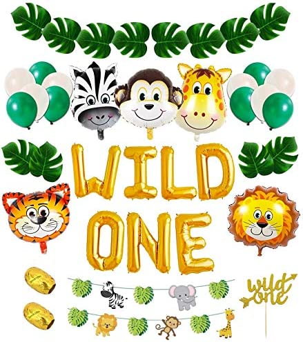 Wild One Birthday Decorations Kit: 1st Birthday Boy Decorations 1st Birthday Decorations Boy | First Birthday Decorations Boy | 1st Birthday Girl Decorations| Wild one balloons