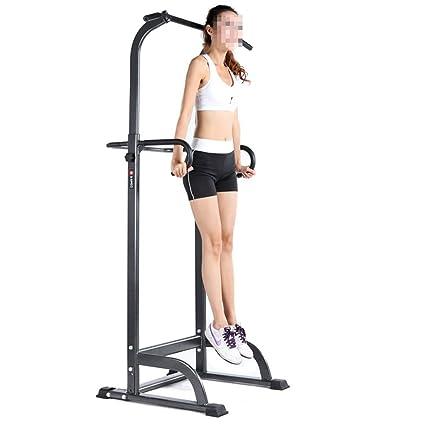 Maybesky Fitness Parallettes Torre de Potencia multifunción con estación de Subida de Rodilla Vertical, estación