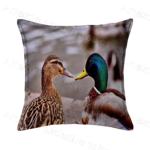 POPULARE Mallard Pillow Cushion Covers Case Square Zippered Pillow Protector For Gift 20