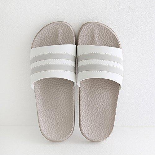 DogHaccd Zapatillas,Zapatillas de verano masculino anti-olor suave luz del interior de las viviendas estancia inferior baños y un par de zapatos antideslizantes son frescas y la chica Ligero Café3