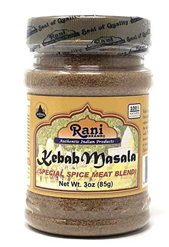 Rani Kebab Masala Indian Spice Blend for Meat Dishes 3oz (85g) Salt & Gluten Free