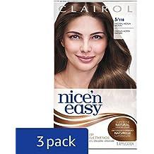Clairol Nice 'n Easy, 5/118 Medium Brown, Permanent Hair Color, 1 Kit (Pack of 3) (PACKAGING MAY VARY)