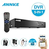 ANNKE 8CH 3MP TVI/CVI/AHD/IP/CVBS HD Surveillance Recorder 5-in-1 Security DVR with HDMI Output, Email Alert with Images and H.264+ compression, NO HDD