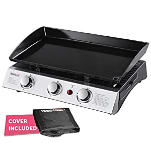 15. Royal Gourmet PD1300 Portable 3-Burner Propane Gas Grill Griddle