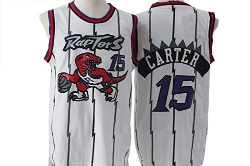 White Retro Jerseys Toronto Raptors Vince Carter #15 - Mens S