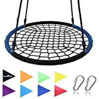 """Royal Oak Giant 40"""" Spider Web Tree Swing, 600 lb Weight Capacity, Durable Steel Frame, Waterproof, Adjustable Ropes, Bonus Flag Set and 2 Carabiners, Non-Stop Fun for Kids!"""