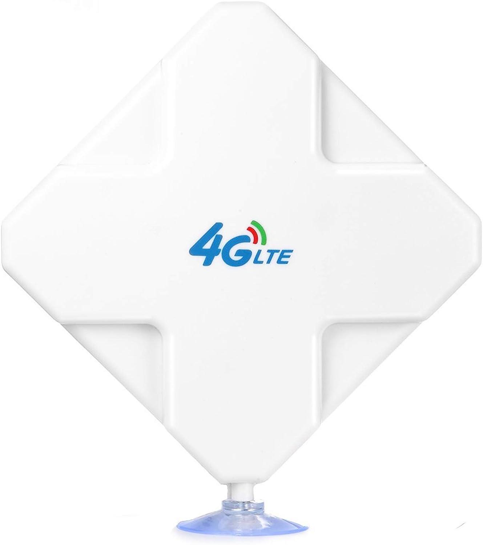 4G LTE Antenna SMA Connector de Alto Rendimiento. Dual Mimo Amplificador de Señal Exterior Receptor 35dbi Alto Ganancia de Red de Larga Distancia ...