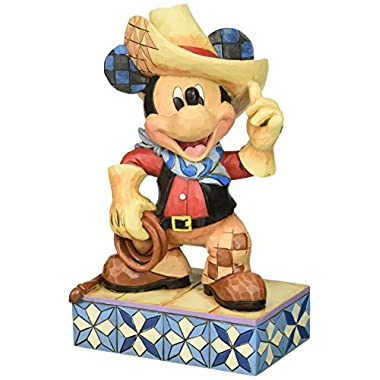 Jim Shore for Enesco Disney Traditions Cowboy Mickey Figurine, 6-Inch