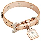 Chrome Bones Oro Diamonds LTD Pet Collar, Small, Rose Gold