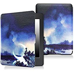Case for kindle paperwhite-Original Design Case Skin with Auto Wake / Sleep for kindle paperwhite (Fits 2012, 2013, 2015 and 2016 Versions) (The moon)