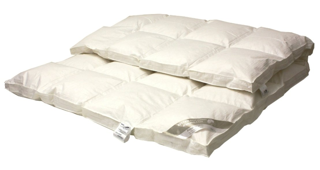 Betten Hofmann Premium 8 cm Winter Hochsteg Daunendecke Daunenbett 4x6 mit Aussensteg 155x220cm