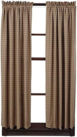 VHC Brands Millsboro Short Panel Scalloped Set of 2 63×36 Country Rustic Curtain