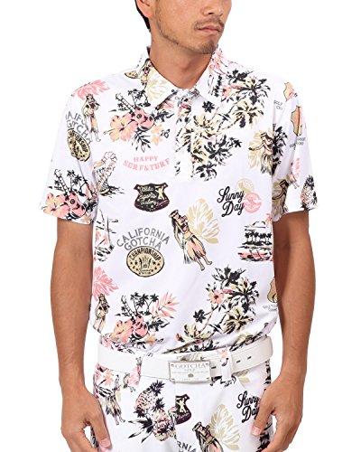 [ガッチャ ゴルフ] GOTCHA GOLF ポロシャツ 吸水速乾 アロハ ポロ 182GG1219 ホワイト Mサイズ