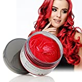 VeniCare Hair Wax Temporary Hair Color Wax 4.23oz MOFAJANG Natural Matte Hairstyle Coloring Easy Operate Free Styles Hair for Men Women,Dye Wax for Party,Masquerade,Nightclub,Cosplay (RED)