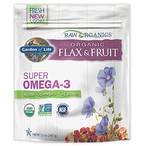 (Garden of Life Raw Organic Flax Seed Meal with Antioxidant Fruits - Flaxseed with Lignan and Polyphenol, 12 oz Pouch)