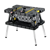 Deals on Keter Folding Table Work Bench For Woodworking Tools