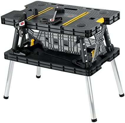 Best Sawhorses: Keter Folding Table Work Bench for Woodworking Tools & Accessories