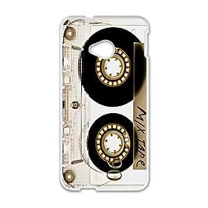 Stylish Mix Tape Pattern Plastic Case For HTC M7