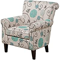 Christopher Knight Home 234490 Roseville Fabric Floral Club Chair, Blue Flowers