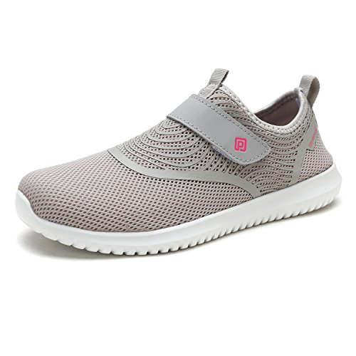DREAM PAIRS Women's C0210_W Lt.Grey H.Pink Fashion Athletic Water Shoes Sneakers Size 5.5 M US by DREAM PAIRS