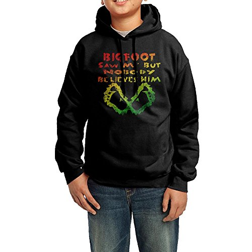 Rasta Bigfoot Saw Me But Nobody Believes Him Colorful Dilapidated Boys' Hoodies Pullover Hooded Sweatshirts ()