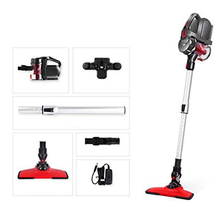 Vacuum Cleaner, Lightweight and Quiet, 45 Minutes Long Runtime, Cordless Vacuum for Home Hard Floor Carpet Car Pet Red