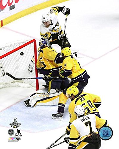 Patric Hornqvist Pittsburgh Penguins 2017 Stanley Cup Game Winning Goal Action Photo (Size: 8