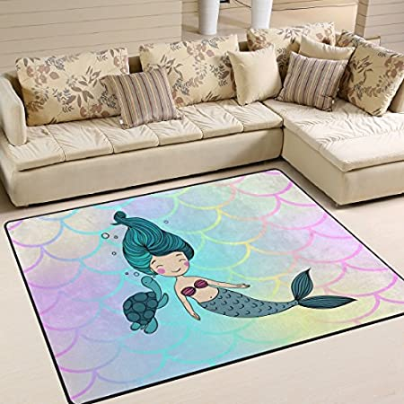 51EesZxnzyL._SS450_ 50+ Mermaid Themed Area Rugs