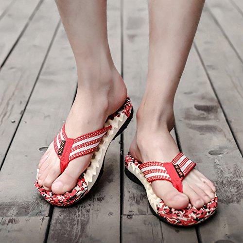 Beach Red Non Flip Light Slip Flops Men's Slippers Padgene Sandals Thong Weight Platform 70BRwpS
