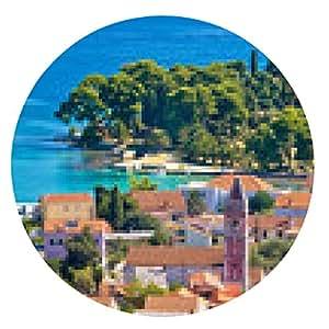 alfombrilla de ratón Belleza de la costa de Croacia - Ugljan - ronda - 20cm
