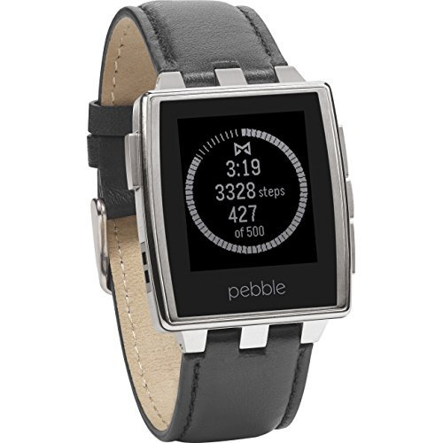 Pebble Steel Smart Watch for iPhone and Android Devices