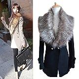 DZT1968® Women Faux Fox Fur Collar Scarf Shawl Collar Wrap Scarves