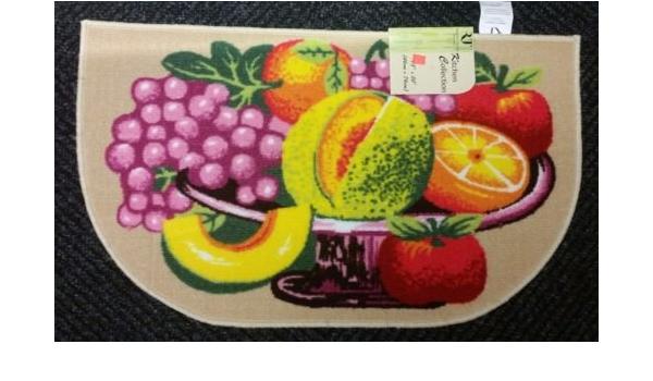 non skid latex back PRINTED NYLON KITCHEN RUG The Pecan Man WINE BOTTLES /& FRUITS ,1Piece 18x30