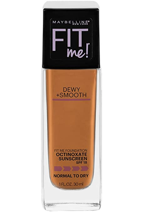 Maybelline Fit Me Dewy + Smooth Foundation, Coconut, 1 fl. oz. (Packaging May Vary)
