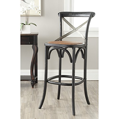 Hickory Collection (Safavieh American Homes Collection Eleanor Hickory Oak 30.7-inch Bar Stool)