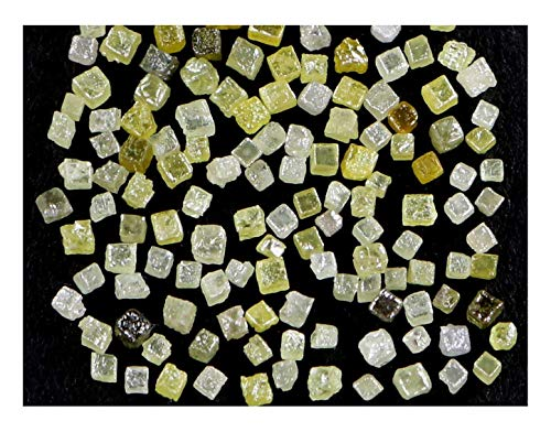 Narshiha Natural Loose Diamonds Rough Cube Mix Fancy Color I3 Clarity 100 pcs Lot NQ74