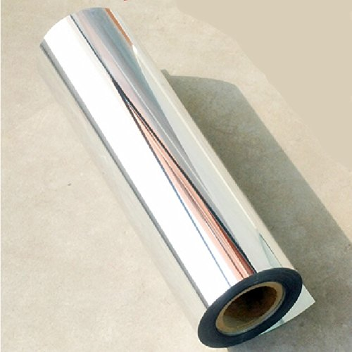 "12""x60""Chrome Mirror Silver Vinyl Wrap Sticker Decal Film Sheet ,Self-adhesive"