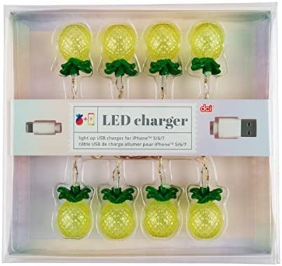 6 DCI Pineapple LED Lights 7 models Compatible with iPhone 5 Glow in the Dark 46 inch USB and Charging Cable