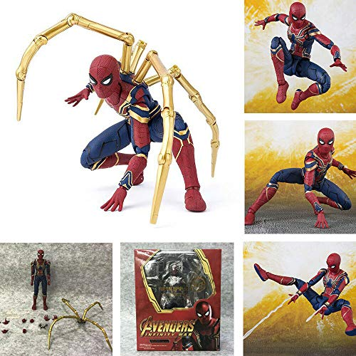 GOODKSSOP Joint Flexible Movable The Avengers Infinity War Super Hero Classic Character Spider-Man:Homecoming Action Figure Model Toy Xmas Gift