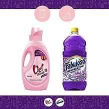 Vel Rosita Pack Detergente Líquido, 1.47l + Limpiador Fabuloso Frescura Activa Fresca Lavanda, 1l, 2 Piezas