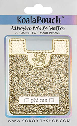 Phi Mu - Glitter Koala Pouch (Gold)