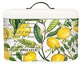 yellow bread bin - Michel Design Works Metal Kitchen Bread Bin with Lid, Lemon Basil