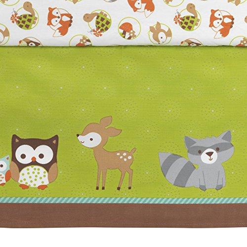 Bedtime Originals Friendly enviroment Woodland 3 Piece Bedding Set Green Brown
