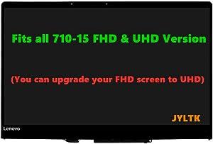 "JYLTK New Genuine 15.6"" UHD 4K (3840x2160) IPS LCD Screen LED Display + Touch Digitizer Assembly for Lenovo Yoga 710-15 710-15IKB 710-15ISB 80U0 80V5"